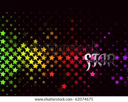Abstract star pattern design, eps8 vector illustration. - stock vector