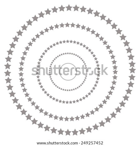 Abstract star shape, vector design element - stock vector