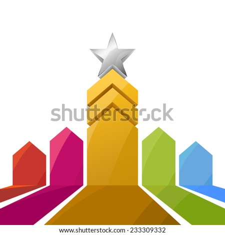 abstract star success, award concept vector illustration - stock vector