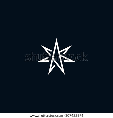 Abstract star symbol - stock vector