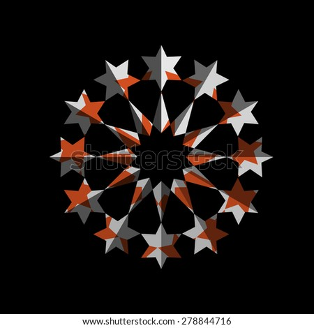 Abstract star symbol for design. Vector EPS10 - stock vector