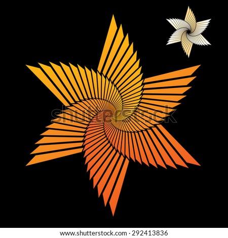 Abstract star vector illustration. - stock vector