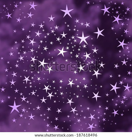 Abstract stars background - stock vector
