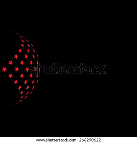 Abstract stars background for your text and logo - vector illustration. Red and black - stock vector