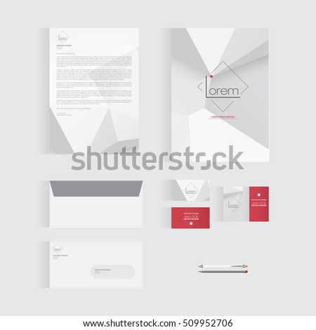 Abstract Stationery Template Design for Your Business | Modern Vector Design