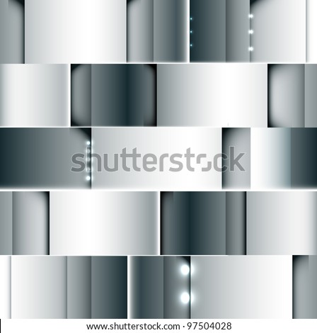 abstract steel grey background with spot light vector - stock vector