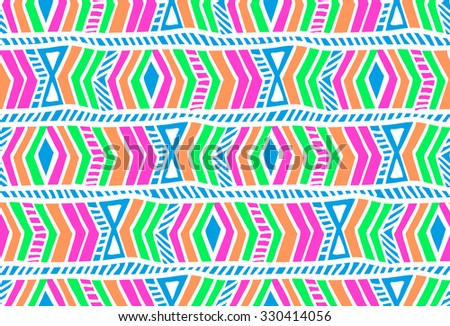 abstract stripe geometric design ~ seamless background - stock vector