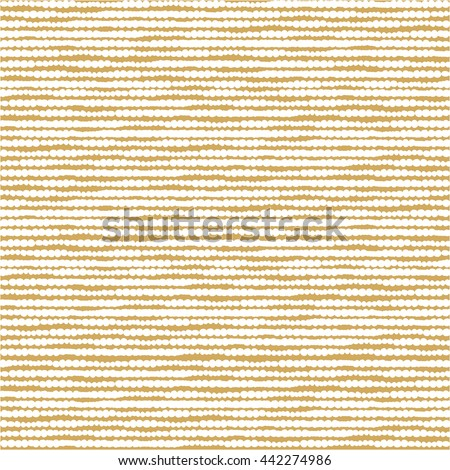 Abstract stripes pattern. Vector seamless geometric doodle ornament. Golden wallpaper. - stock vector