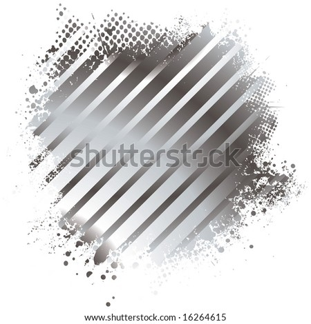 Abstract stripped golden background with half tone dot - stock vector