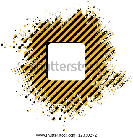 Abstract stripped yellow background with half tone dots - stock vector