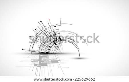 abstract structure circuit computer cube technology business background - stock vector
