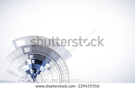 abstract structure circuit computer cube technology business background