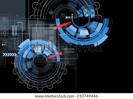 abstract structure circuit computer triangle technology business background - stock vector