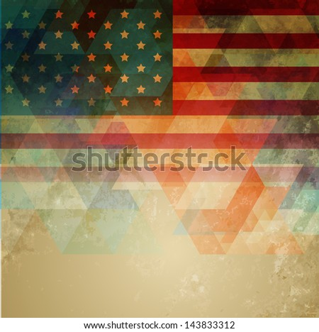 abstract style american independence day design - stock vector