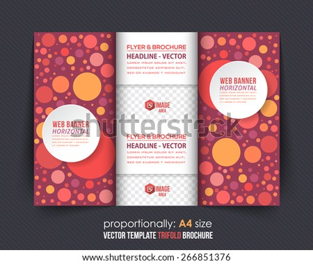 Abstract Style Business Concept Tri-fold Design and Brochure, Catalog Vector Template  - stock vector