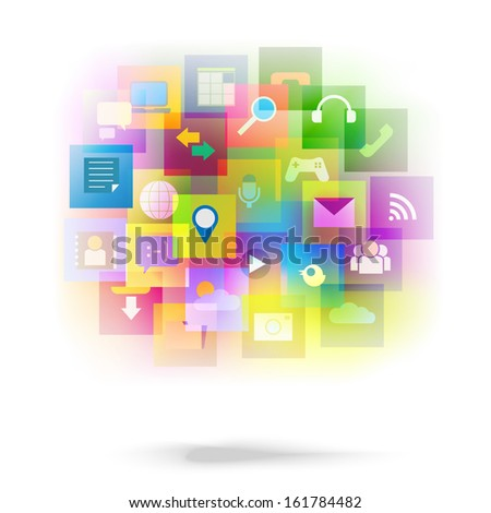 Abstract style tablets - vector graphic