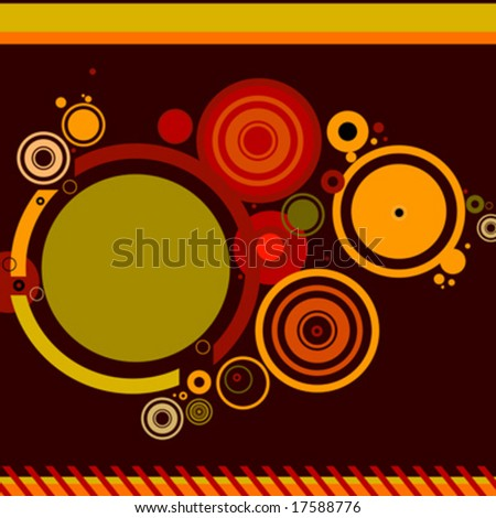 abstract stylish background with circles - stock vector
