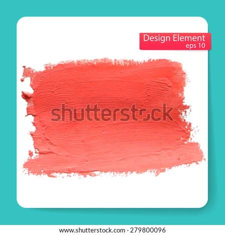 Abstract stylish Blob acrylic paint. Vector illustration  - stock vector