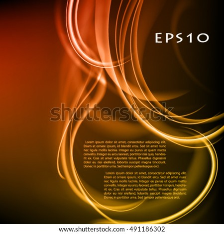 Abstract stylish dark vector background.  Vector frame with glow lines