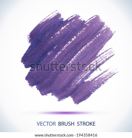 Abstract stylish watercolor background. Vector illustration. Violet colorful vector abstract brush stroke and splatter background. Grunge vector hand drawn background. Ink splatter - stock vector