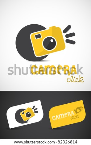 Abstract stylized camera icon such logo, vector EPS10. - stock vector