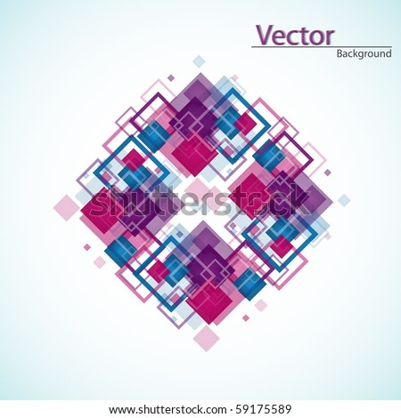 Abstract stylized layout, Vector. - stock vector