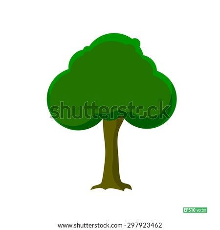 abstract stylized tree. - stock vector