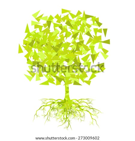 Abstract stylized tree vector background spring, summer concept - stock vector