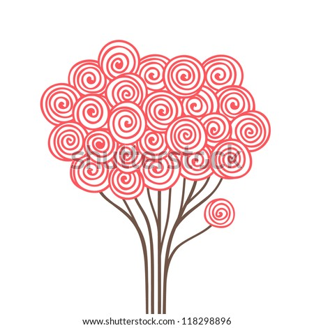 Abstract stylized tree. Vector illustration - stock vector