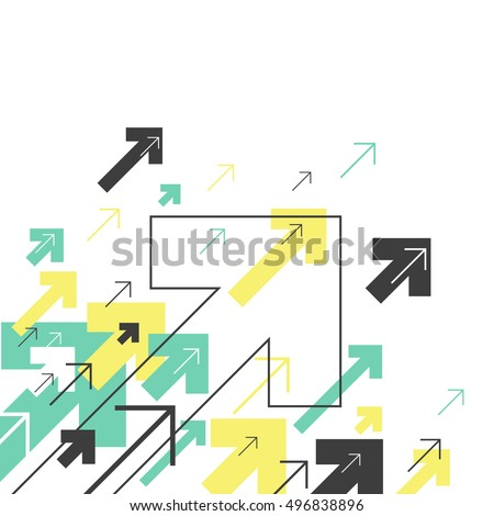 Abstract Success Concept. Growing arrows Illustration. Motion Up. Corner element. Successful Background Cover Design for annuals reports, brochures, etc