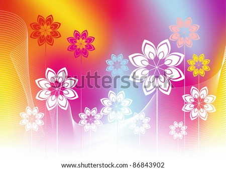 Abstract summer background with colors. A vector illustration. - stock vector