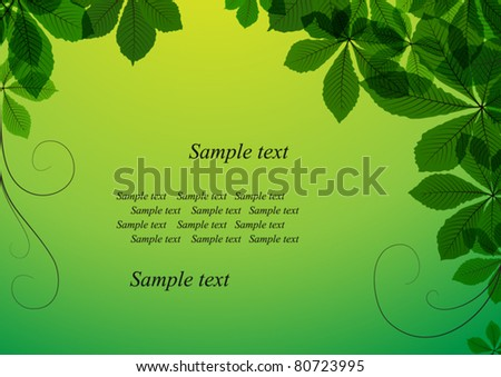 Abstract summer background with green leaves.  EPS10 vector format. Raster version available in my portfolio - stock vector