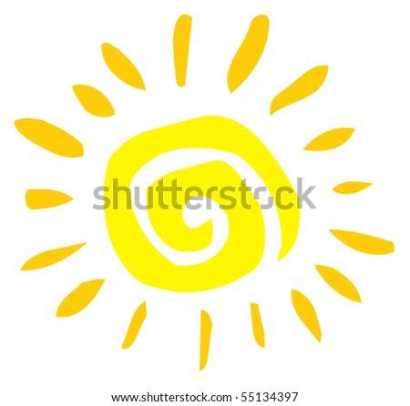 Abstract Sun - stock vector