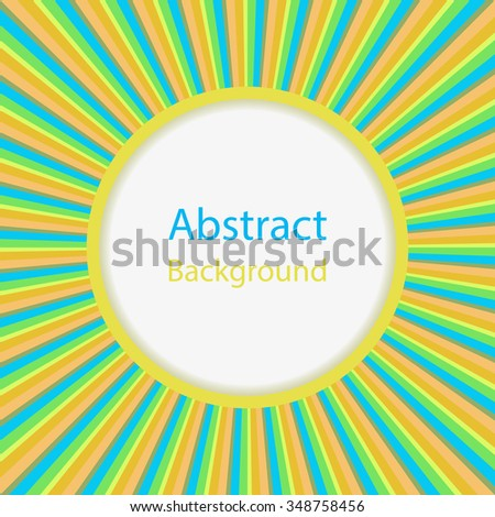 Abstract sun burst vector background with copy space.