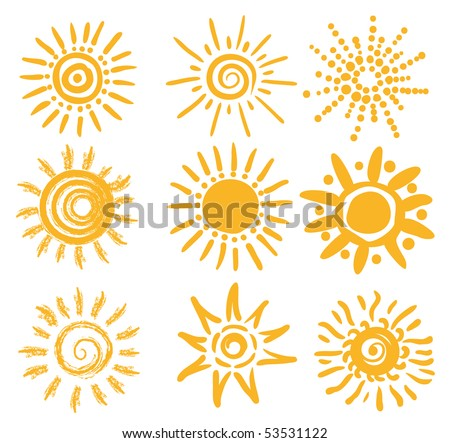 abstract sun shapes - stock vector