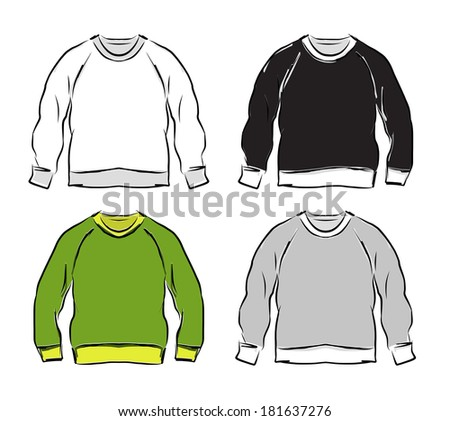 Abstract sweatshirts set sketch for your design - stock vector