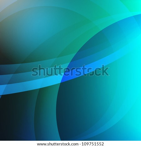 Abstract Swirl Background - blue