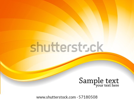 Abstract swirl bright background in orange color   - stock vector