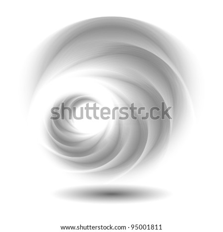 abstract swirl logo, icon (ideal for technology, innovation etc. concepts) - stock vector