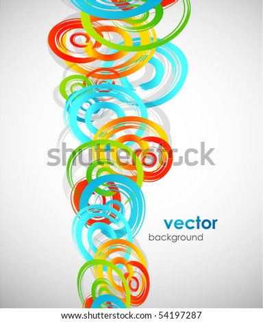 Abstract swirl shapes background - stock vector