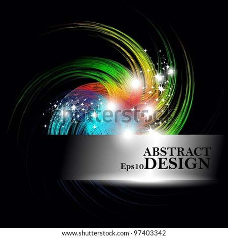 abstract swirl Smooth shine Waves Design in vector Background.