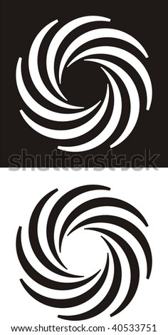 Abstract swirling design - stock vector