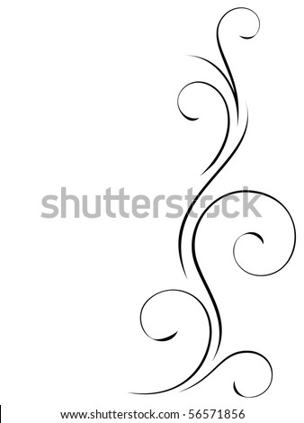 Abstract swirly decoration - stock vector