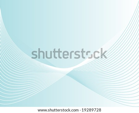 Abstract Swooshy Blue Lined Corporate Background - stock vector