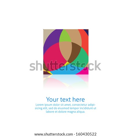 Abstract symbol in vector isolated - stock vector