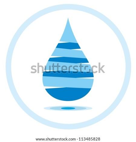 Abstract Symbol Drop Water Vector Blue Stock Photo Photo Vector