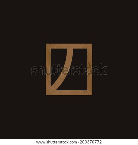 Abstract symbol, with wooden texture.Simple background, with minimal icon. Simple design. Easy to edit. Vector illustration - EPS10. - stock vector