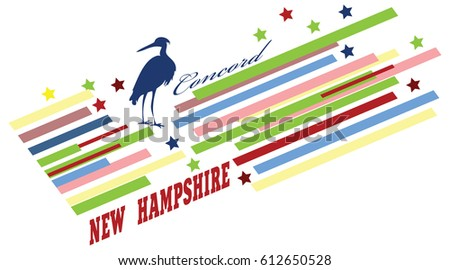 Abstract Symbols State New Hampshire United Stock Vector 612650528