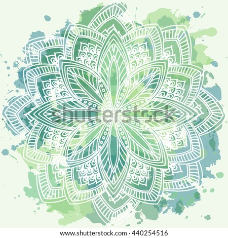 Abstract symmetry ornament ,floral pattern vector illustration for design. - stock vector