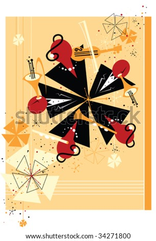 abstract symphony orchestra - stock vector